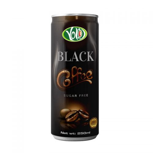 250ml canned black coffee sugar free drink