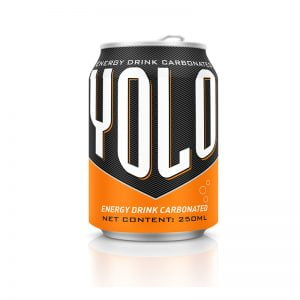 250ml Short Can Energy Drink carbonated Yolo brand