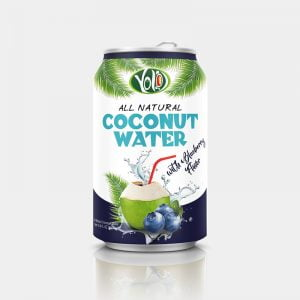 250ml canned coconut water blueberry juice flavor