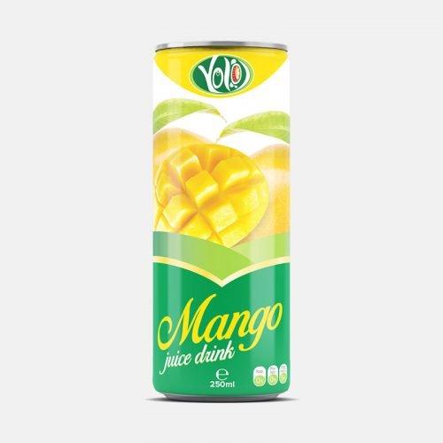 250ml canned mango fruit juice drink