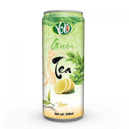 330ml canned Green tea lemon drink