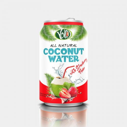 330ml canned coconut water strawberry juice