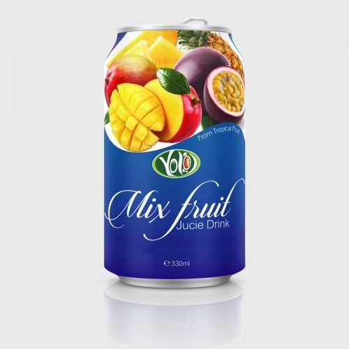 330ml canned mix fruit juice drink