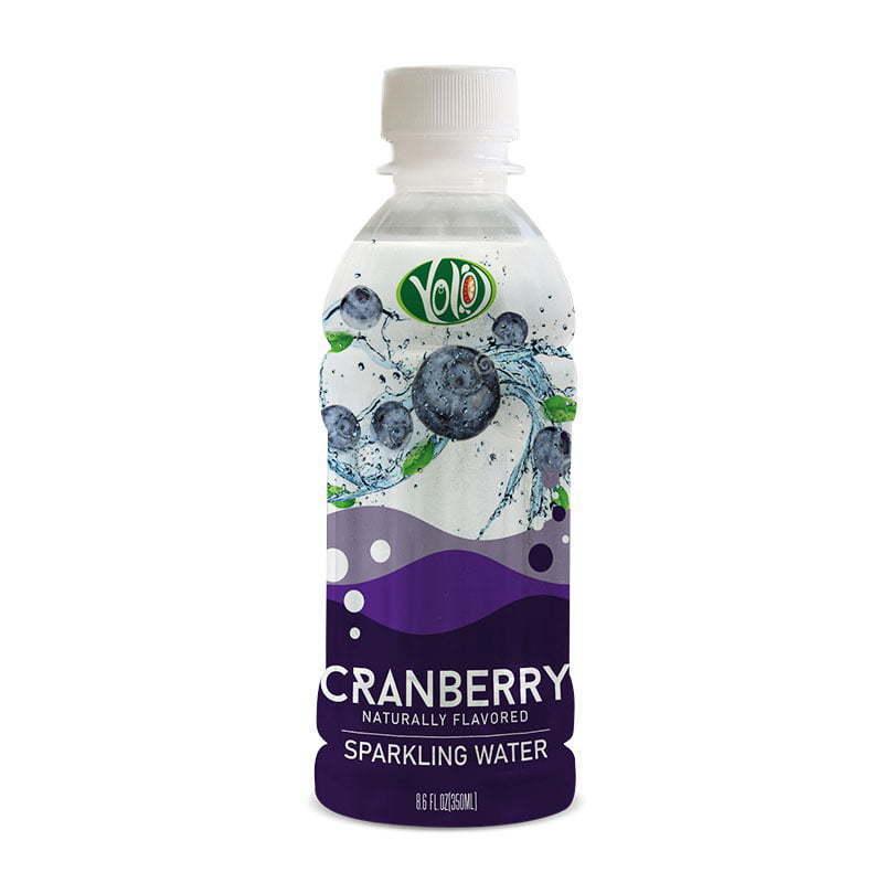 350ml pet bottle sparkling water cranberry