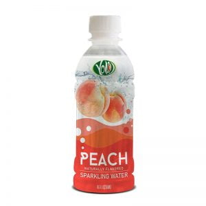 350ml pet bottle sparkling water peach