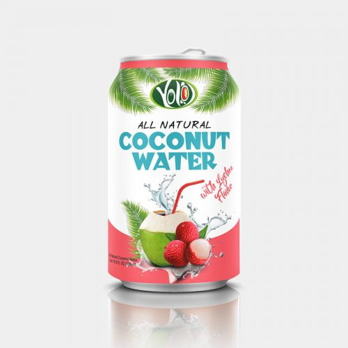 330ml canned coconut water lychee juice