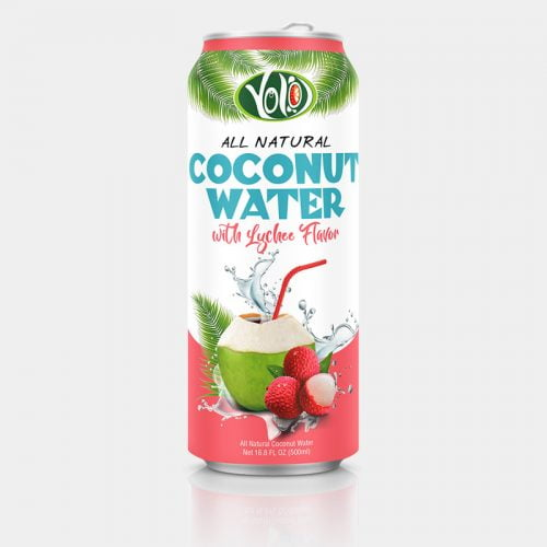 500ml fresh coconut water lychee flavor
