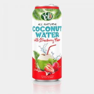 500ml fresh coconut water strawberry flavor