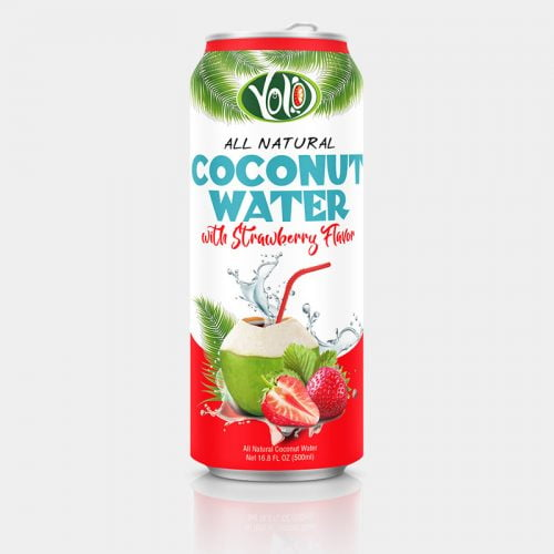 500ml fresh coconut water strawberry flavor