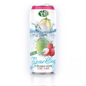 Sparkling Coconut Water with Lychee Juice