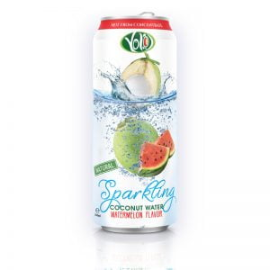 Sparkling Coconut Water with Watermelon Juice