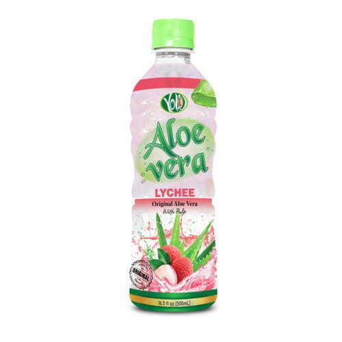 500ml pet bottle aloe vera drink flavour lychee