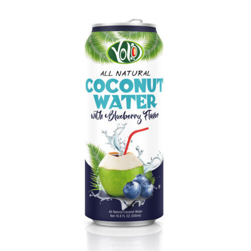 High quality Coconut water with blueberry